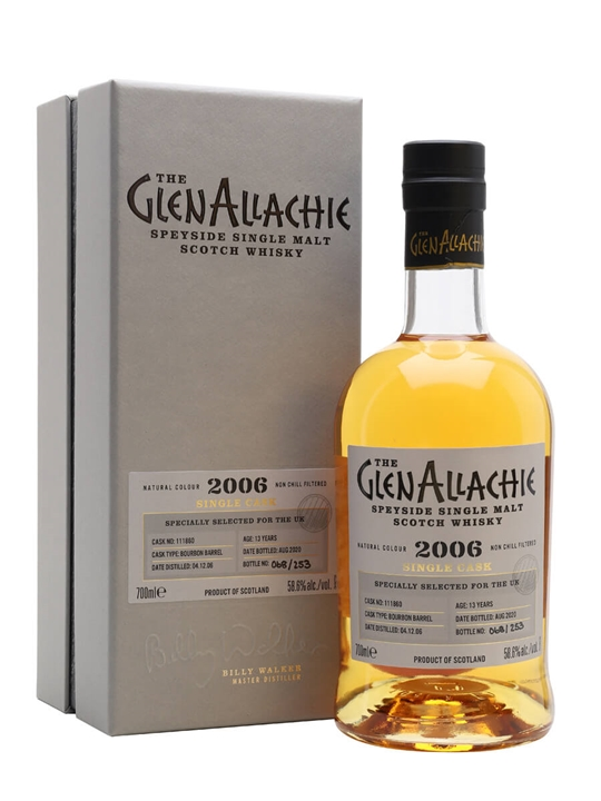 Glenallachie 2006 / 13 Year Old / Bourbon Barrel Speyside Whisky