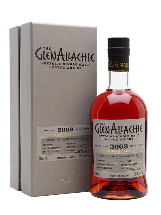 Glenallachie 2008 / 12 Year Old / Ruby Port Pipe Speyside Whisky