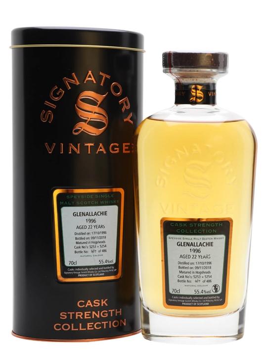 Glenallachie 1996 / 22 Year Old / Signatory Speyside Whisky