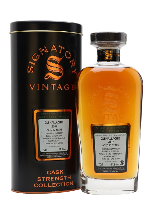Glenallachie 2007 / 12 Year Old / Signatory Speyside Whisky