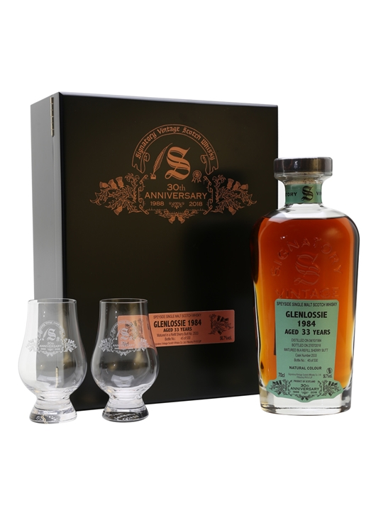 Glenlossie 1984 / 33 Year Old / Signatory 30th Anniversary Speyside Whisky