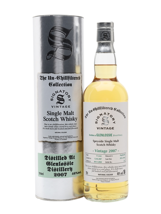 Glenlossie 2007 / 13 Year Old / Signatory Speyside Whisky