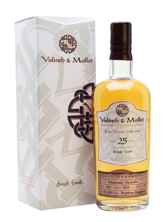 Glenlossie / 25 Year Old / Valinch & Mallet Speyside Whisky