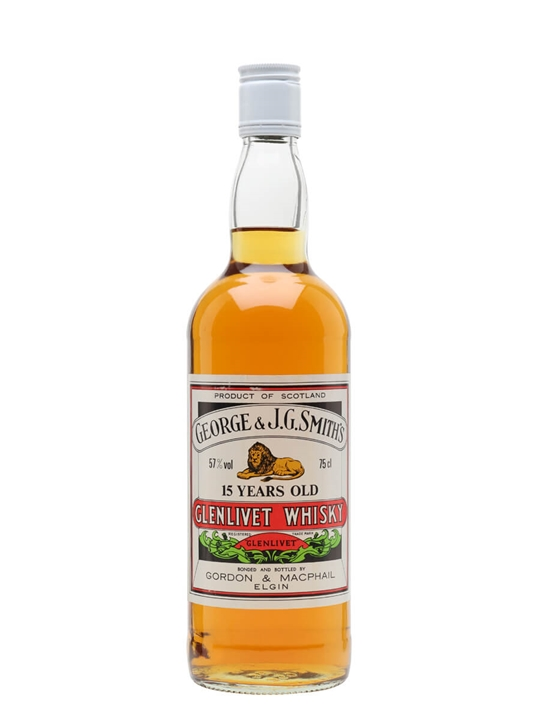 Glenlivet 15 Year Old / 100 Proof / Bot.1980s / G&M Speyside Whisky