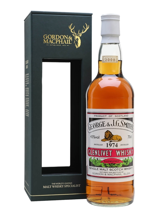Glenlivet 1974 / 34 Year Old / Gordon & Macphail Speyside Whisky