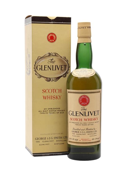 Glenlivet 12 Year Old / Bot.1960s Speyside Single Malt Scotch Whisky