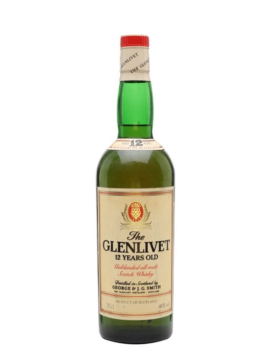 Glenlivet 12 Year Old / Bot.1980s Speyside Single Malt Scotch Whisky