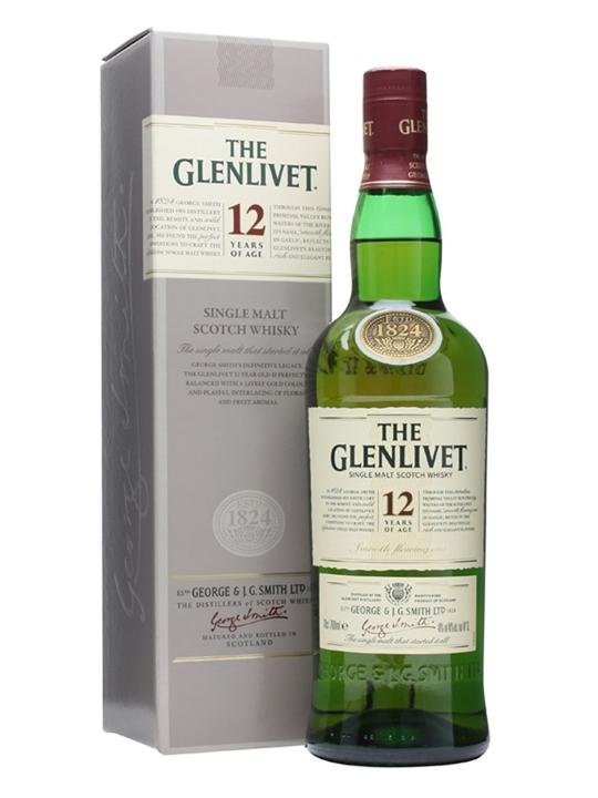 Glenlivet 12 Year Old / Old Presentation Speyside Whisky