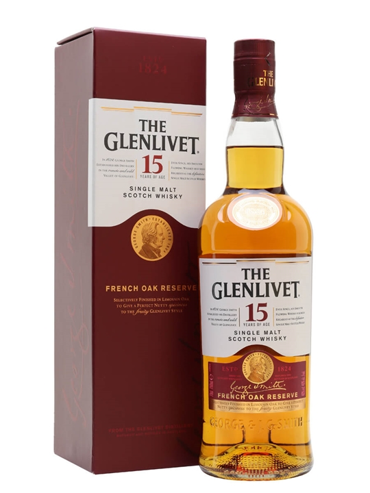 Glenlivet 15 Year Old / French Oak Reserve Speyside Whisky