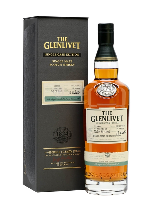 Glenlivet 16 Year Old / Ladderfoot / Sherry Cask Speyside Whisky
