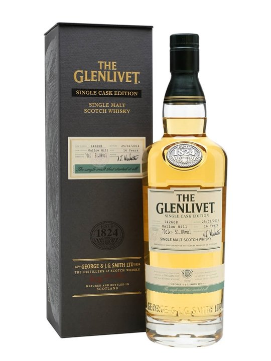 Glenlivet 16 Year Old / Bot.2014 / Gallow Hill Speyside Whisky