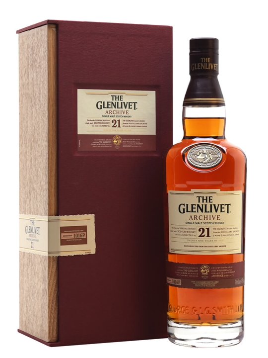 Glenlivet 21 Year Old Archive Speyside Single Malt Scotch Whisky