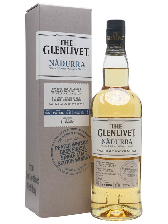 Glenlivet Nadurra Peated Whisky Cask Finish / Batch PW1016 Speyside Whisky