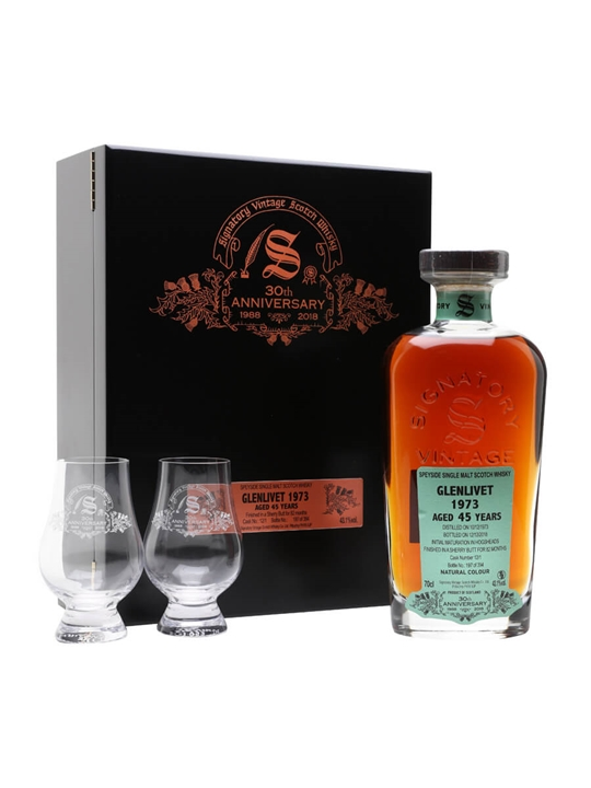 Glenlivet 1973 / 45 Year Old / Signatory 30th Anniversary Speyside Whisky