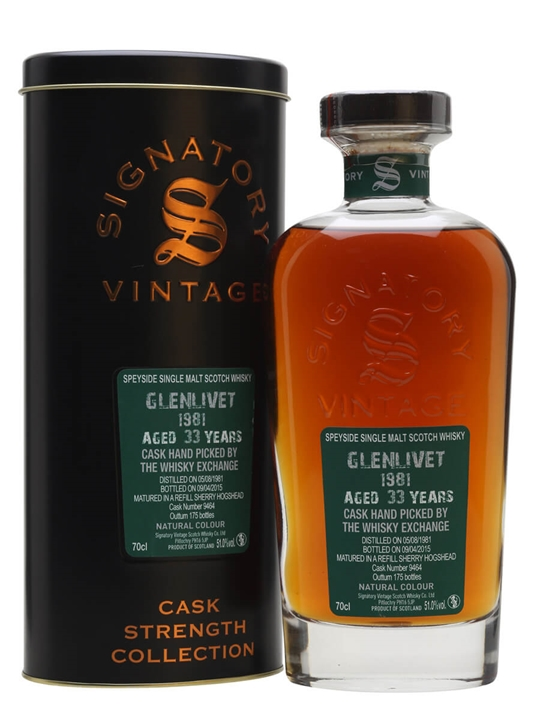 Glenlivet 1981 / 33 Years Old / Signatory / TWE Exclusive Speyside Whisky