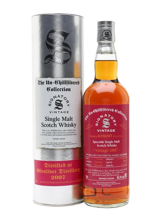 Glenlivet 2007 / 13 Year Old / Sherry Cask / Signatory for TWE Speyside Whisky