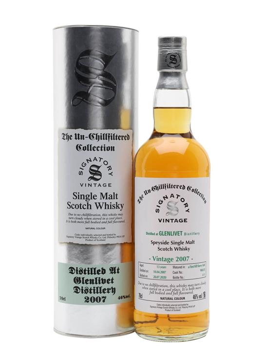 Glenlivet 2007 / 13 Year Old / cask# 900245 / Signatory Speyside Whisky