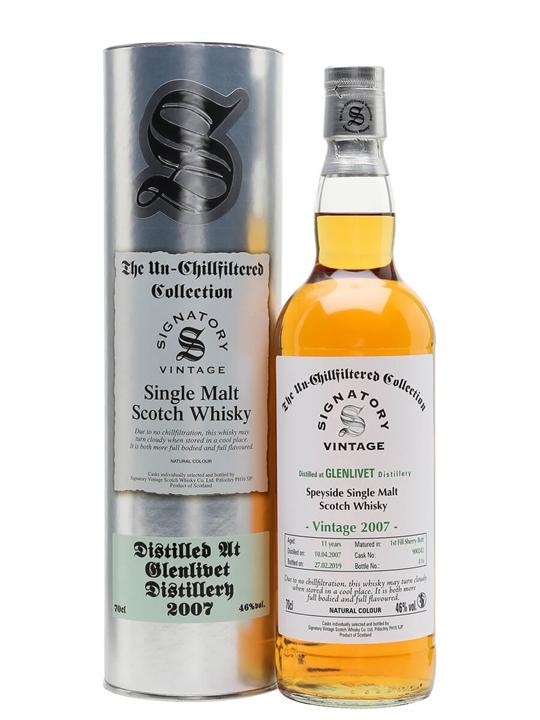 Glenlivet 2007 / 11 Year Old / Signatory Speyside Whisky