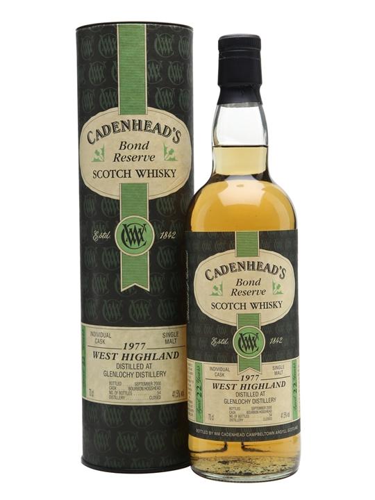 Glenlochy 1977 / 22 Year Old / Cadenhead's Highland Whisky