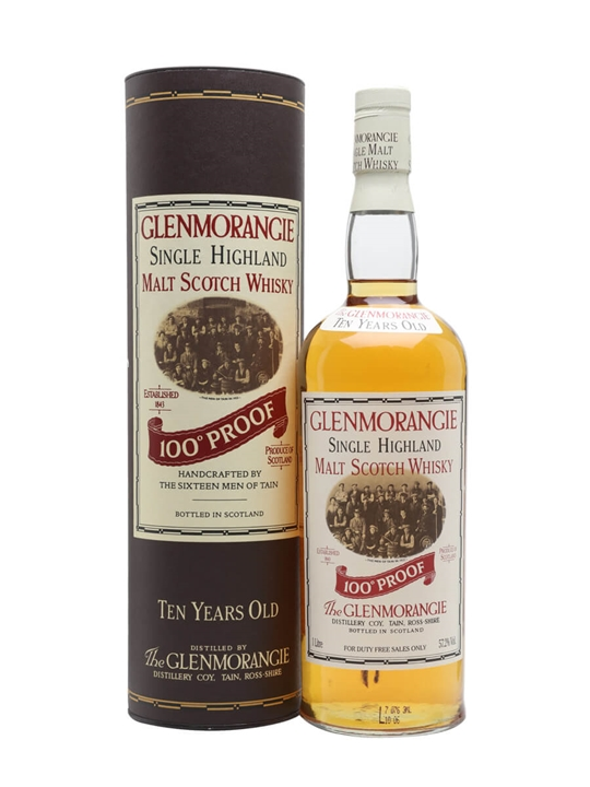 Glenmorangie 10 Year Old / 100 Proof Highland Whisky