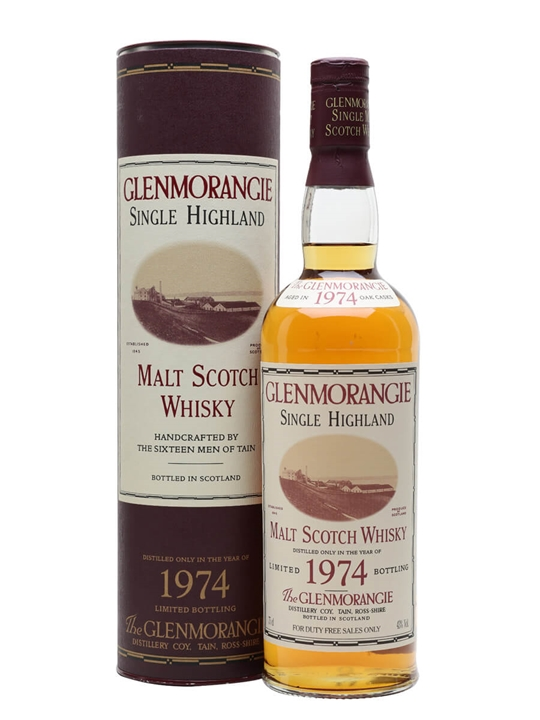 Glenmorangie 1974 / Bot.1995 Highland Single Malt Scotch Whisky