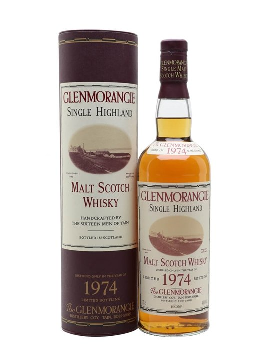 Glenmorangie 1974 / Bot.1996 Highland Single Malt Scotch Whisky