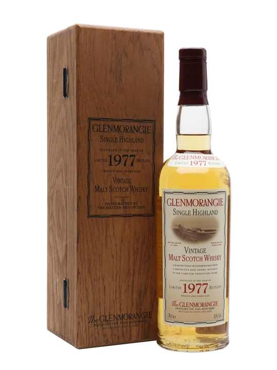 Glenmorangie 1977 / Bot.1998 Highland Single Malt Scotch Whisky