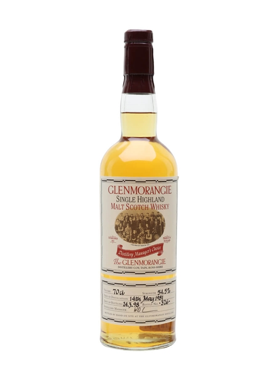 Glenmorangie 1981 / Manager's Choice Highland Whisky