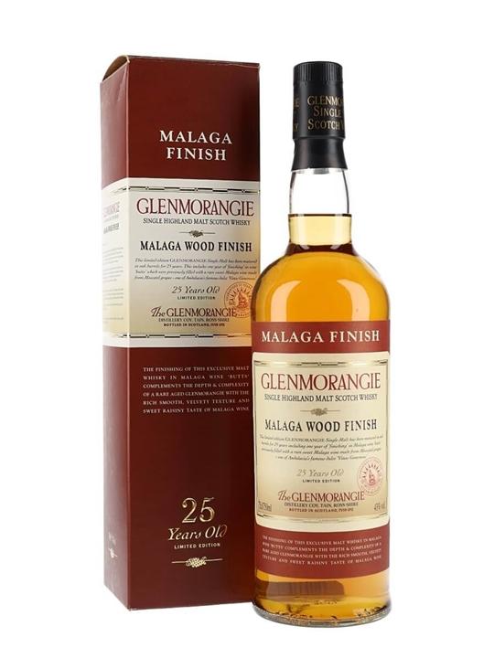 Glenmorangie 25 Year Old / Malaga Wood Highland Whisky