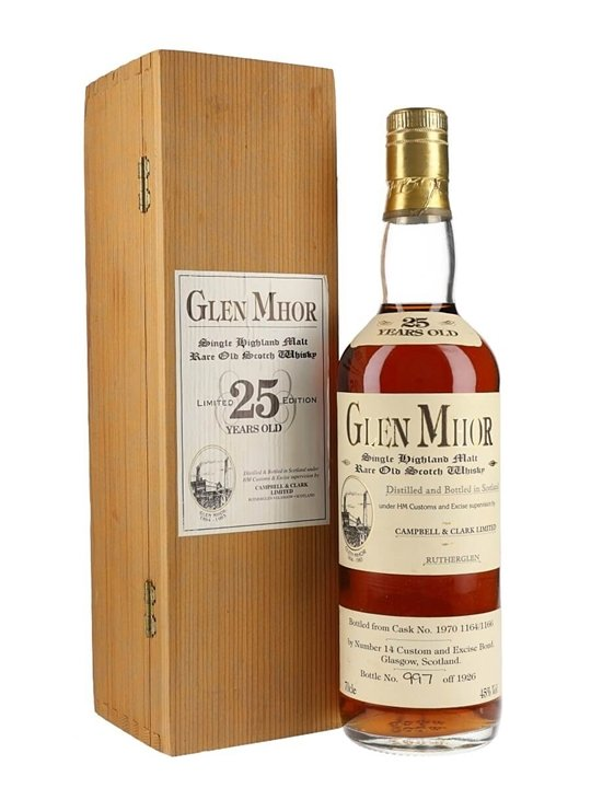 Glen Mhor 25 Year Old Highland Single Malt Scotch Whisky