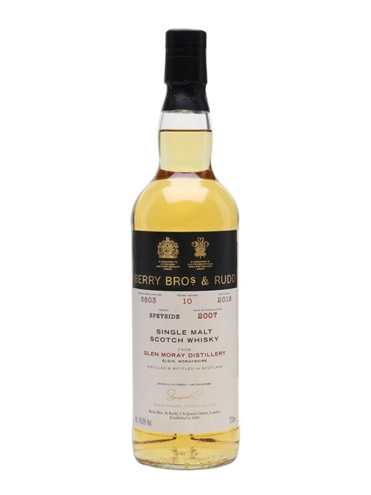 Glen Moray 2007 / 10 Year Old / Berry Bros & Rudd Speyside Whisky