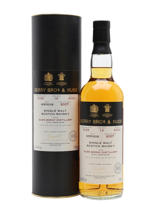 Glen Moray 2007 / 12 Year Old / Berry Bros & Rudd Speyside Whisky