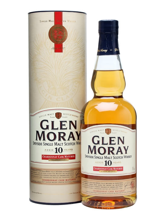 Glen Moray 10 Year Old / Chardonnay Cask Speyside Whisky