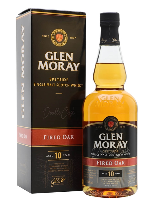 Glen Moray Fired Oak 10 Year Old Speyside Single Malt Scotch Whisky