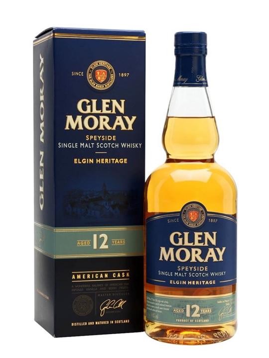 Glen Moray 12 Year Old Speyside Single Malt Scotch Whisky
