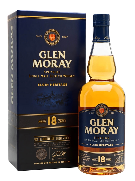 Glen Moray 18 Year Old Speyside Single Malt Scotch Whisky