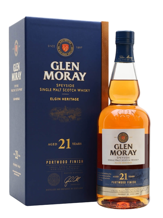 Glen Moray 21 Year Old / Port Wood Finish Speyside Whisky