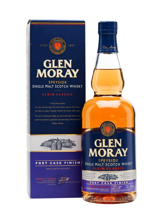 Glen Moray Port Cask Finish Speyside Single Malt Scotch Whisky