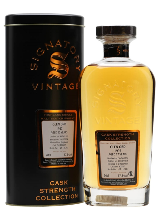 Glen Ord 1997 / 17 Year Old / Cask #800092 / Signatory Highland Whisky
