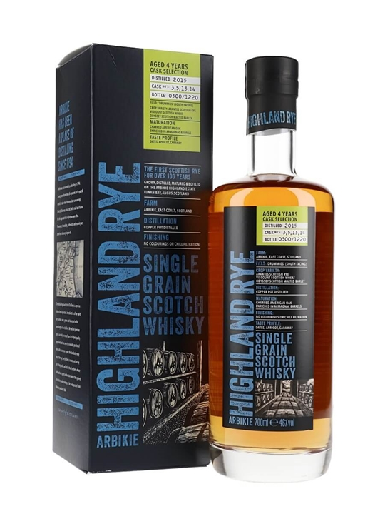 Arbikie Highland Rye 4 Year Old / Release 2 Single Grain Scotch Whisky