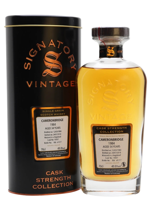 Cameronbridge 1984 / 34 Year Old / Signatory Single Whisky