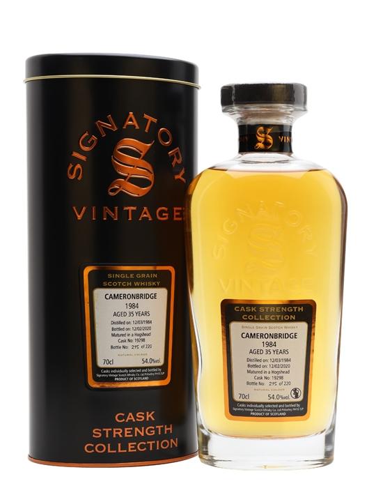 Cameronbridge 1984 / 35 Year Old / Signatory Single Whisky