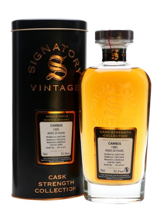 Cambus 1991 / 24 Year Old / Signatory Single Grain Scotch Whisky