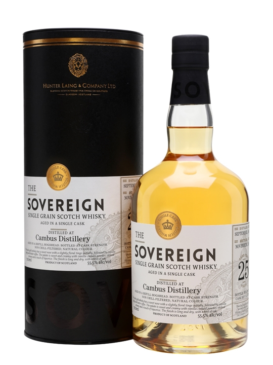 Cambus 1991 / 25 Year Old / Sovereign Single Grain Scotch Whisky