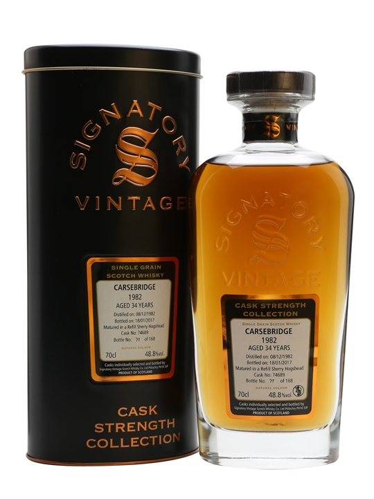 Carsebridge 1982 / 34 Year Old / Signatory Single Grain Scotch Whisky