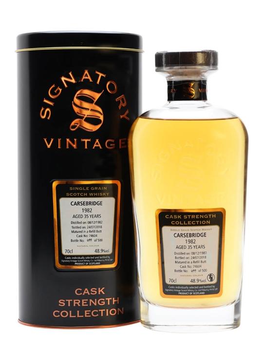 Carsebridge 1982 / 35 Year Old / Signatory Single Grain Scotch Whisky