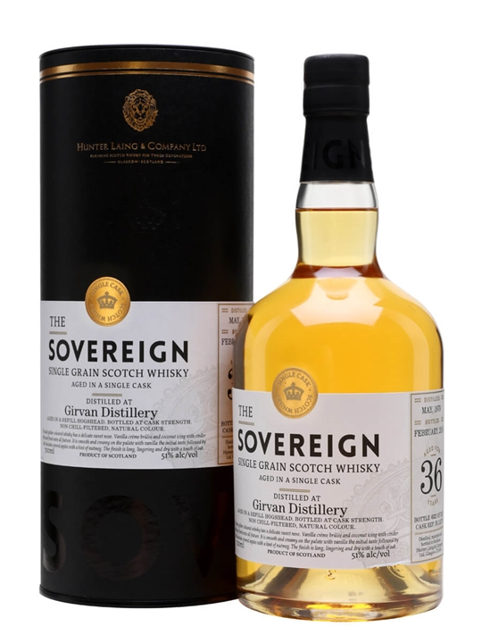 Girvan 1979 / 36 Year Old / Sovereign Single Grain Scotch Whisky