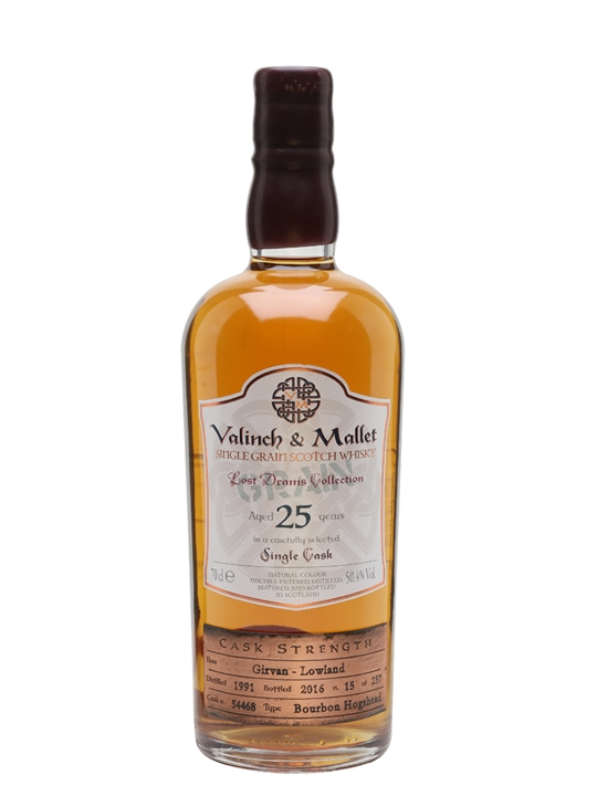 Girvan 25 Year Old / Valinch & Mallet Single Grain Scotch Whisky