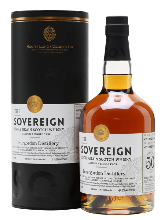 Invergordon 1964 / 50 Year Old / Sovereign Single Grain Scotch Whisky