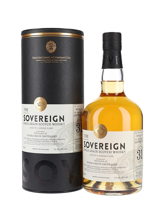 Invergordon 1988 / 31 Year Old / Sovereign Single Grain Scotch Whisky